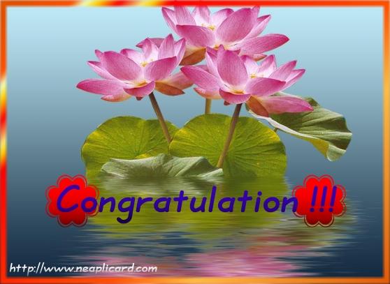 Congratulation !!
